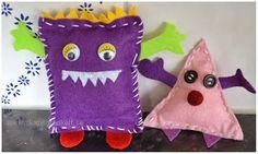 Skapligt Enkelt: Filtmonster Diy And Crafts, Crafts For Kids, Textiles, Kids Corner, Soft Sculpture, Yarn Needle, Coin Purse, Monsters, Inspiration