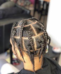 Cornrow Hairstyles For Men, Black Girl Braided Hairstyles, Black Men Hairstyles, Black Girl Braids, Braids For Black Hair, Twist Hairstyles, Hairstyle Men, Box Braids Men, Braids For Boys