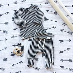 A personal favorite from my Etsy shop https://www.etsy.com/listing/503564747/baby-boy-thermal-outfit-black-and-white