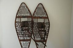 Antique Wooden Snowshoes, Northland Ski Manufacturing Company Snowshoes, Winter Travel Gear, Man Gift For Your Guy, Custom Snowshoes,