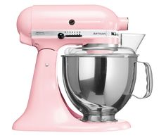 Pink - Artisan Tilt-Head Stand Mixer  300W iconic die-cast construction, tilt-head design, direct drive, planetary mixing action, includes dough hook, flat beater, wire whisk, pouring shield and 4.8L stainless steel bowl