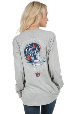 Where are our Auburn football fans at?! We know you will love to cheer for the Tigers in this new helmet tee! Oversized unisex fit. Model is wearing a MEDIUM! Features - 100% Combed Cotton 4.3 oz - Fr