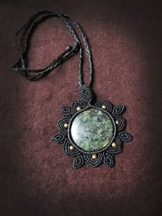 Macrame mandala steampunk necklace with by AbstractikaCrafts, £26.00