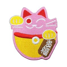 Cute Lucky Cat Patch Embroidered Animation Sew on Iron on Patches patch patches iron on patch sew on patch badge patch movie patch Animation Animation patch Cute Lucky Cat Lucky Cat Lucky Cat patch Cute cat Cute cat patch USD Sew On Patches, Iron On Patches, Cat Patch, Advertising And Promotion, Vinyl Lettering, Party Printables, Badge, Hello Kitty, Arts And Crafts
