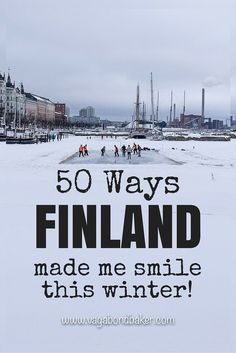 Have you ever been to Finland? If not, you should, because #Finland makes you smile! :) Happy post by Vagabond Baker.