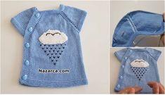 YANDAN 5 DÜĞMELİ BEBEK YELEK TAM ANLATIMLI YAPIMI Baby Knitting Patterns, Vest, Denim, Tank Tops, Jackets, Women, Fashion, Tricot, Outfits