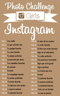 #Reto #Instagram 30 días #30Fotos #girls