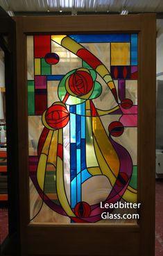 Charles Renee Mackintosh Stained Glass Door
