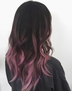 33 trendy ombre hair color ideas of 2019 - Hairstyles Trends Hair Dye Colors, Cool Hair Color, Fall Hair Colors, Pink Ombre Hair, Brown Hair Pink Tips, Dyed Hair Pink, Brown Hair With Pink Highlights, Hair Color Highlights, Fairy Hair