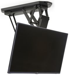 Ceiling Tv Mount For Monitors 23 42 Motorized Remote Control Included Black