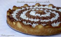 Crostata con panna al cocco e nutella