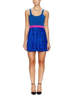Deluca Graphic Fit and Flare Dress