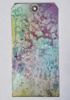 Dylusions Rubber Stamps & Tim Holtz's Waterbrush - Video