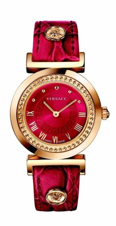 c77c725bec Vanity Red Strap by Versace for Women s Watches. A brand-new collection for  women joins the Versace line of watches  Vanity.