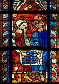 Bay 210 - Panel D1 from the windows of Le Mans Cathedral (mid 13 C.)