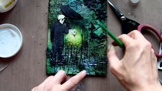 Mixed Media Art Canvas - Gothic Halloween Very cool. :-)