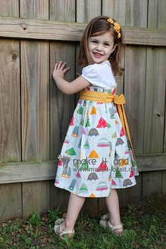Tutorial to re-purpose a t-shirt into a dress.  Will have to try this for my two girls!