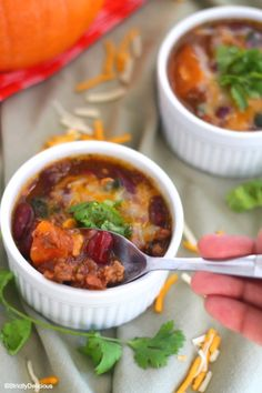 Paleo Pumpkin Chili (Nightshade Free) replace beans with pumpkin or sweet potato | StrictlyDelicious.com