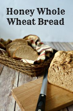 Honey Whole Wheat Bread: A tender and moist 100% whole wheat bread recipe that is dairy-free, naturally sweetened, and full of healthy grains! Directions for bread machine or by hand.