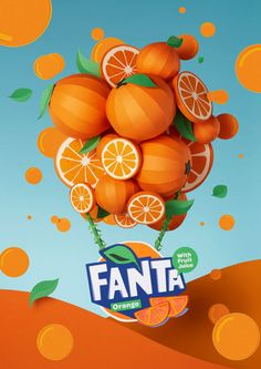 A paper craft design by the mighty folks from Adrian & Gidi for the FANTA Flavorland rebranding campaign where the orange colour goes beyond Visual Advertising, Creative Advertising, Advertising Design, Advertising Campaign, Web Design, Game Design, Ads Creative, Creative Posters, Logos Retro