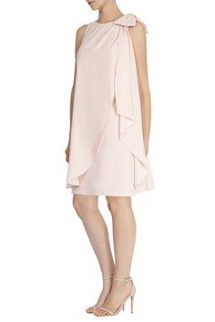 LYDIA BOW CREPE DRESS