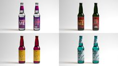 070913e382e Free beer bottle mockups with front and back editable labels. Change glass  colors and labels in this bottle mockup. Layered PSD file (fixed  background) with ...