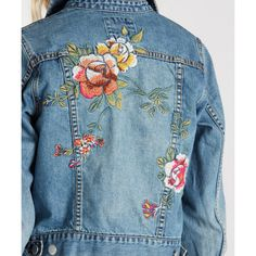 Lifestyle & Technical Surf Clothing and Swimwear Brand Embroidered Denim Jacket, Embellished Jeans, Embroidered Clothes, Customised Denim Jacket, Painted Jeans, Recycled Fashion, Denim Fabric, Diy Clothes, Ideias Fashion