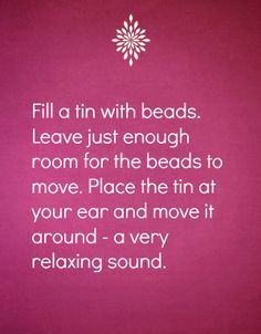 Relaxation tip no. 10