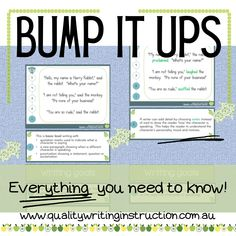 Improving student writing through Bump It Ups. A 3 part blog with video support. #teachingwriting #bumpitupwalls #teachwriting #writingteachers Teaching Writing, Bump, Need To Know, Student, Sayings, How To Make, Red, Lyrics, Quotations