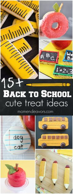 15+ Cute Back to School Treats - Whether you make a cute after school snack for the first day or first week back, a cute treat to put in their lunch box, or even something fun for a back to school breakfast, kids are sure to love a school-themed treat!