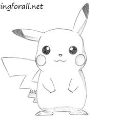 Cartoons How to draw pikachu from pokemon Easy Cartoon Drawings, Cute Easy Drawings, Cartoon Sketches, Disney Sketches, Cartoon Art Styles, Cool Art Drawings, Kawaii Drawings, Disney Drawings, Animal Drawings