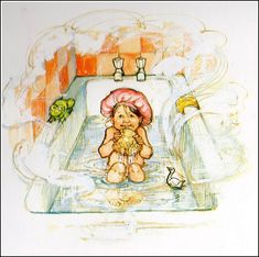 "This is from the book""Bathwater's hot"", written and illustrated by Shirley Hughes, first published in 1985."