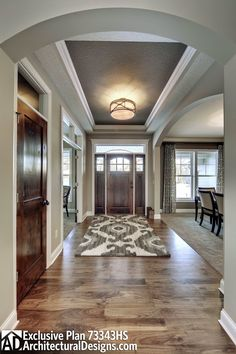 Like the contrast in doors/floors but not white trim