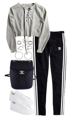 """Untitled #4612"" by theeuropeancloset ❤ liked on Polyvore featuring Madewell, adidas and Chanel"