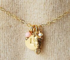 {Owl Always Love You Necklace} so sweet!! customizable, too