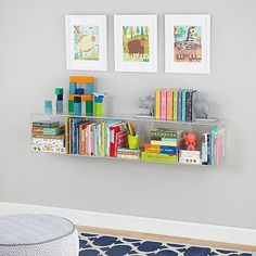 Shop Now You See It Clear Acrylic Bookcase.  For our next trick, we're going to make your bookshelf disappear.  Well, not really, but we will allow you to replace it with this modern, seamless bookcase.