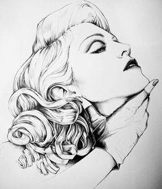 #madonna #drawing #pencil #portrait #madonnaartvision by @sergiodaricello
