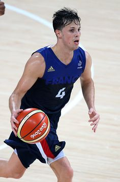 Thomas Heurtel of France in action during the basketball match between France…