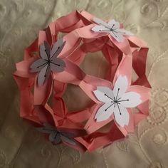 Sakuradama (designed by Toshikazu Kawasaki), folded by me.
