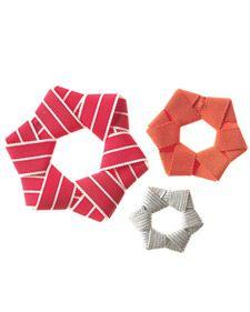 Ribbon Star Ornaments Diy Christmas Ornamentsnoel Christmashomemade