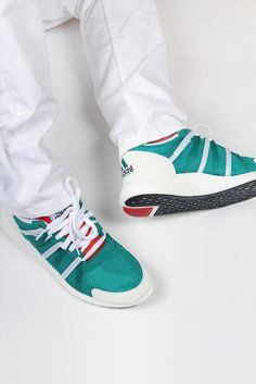 GOOD AS GOLD | Streetwear, Fashion, Sneakers & Accessories — EQT Racing 93/16 - green/white/red