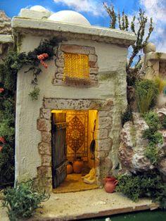Nativity House, Christmas Nativity Scene, Journey To Bethlehem, Fontanini Nativity, Christmas In Italy, Miniature Houses, Inspired Homes, Architecture Details, Decoration