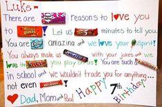 Happy Birthday Poster Ideas Encantadora Happy Birthday Candy Poster for the Kids Birthday Candy Posters, Candy Birthday Cards, Happy Birthday Signs, Birthday Fun, Birthday Gifts, Birthday Ideas, Birthday Greetings, Birthday Parties, Birthday Images