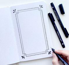 Borders Bullet Journal, Bullet Journal Banner, Bullet Journal Ideas Pages, Bullet Journal Inspiration, Page Borders Design, Border Design, Dot Grid Notebook, Journal Notebook, Notebook Doodles