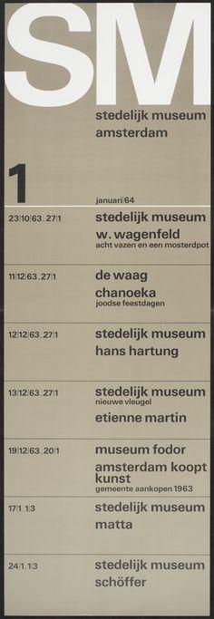 Wim Crouwel, Maandprogramma's 1964