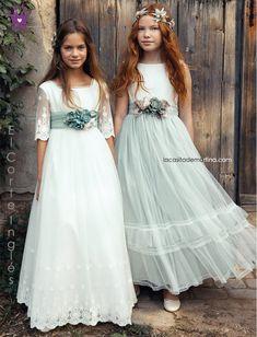 Little Girl Gowns, Gowns For Girls, Dresses Kids Girl, Flower Girl Dresses, Young Girl Fashion, Communion Dresses, Bridesmaid Dresses, Wedding Dresses, Tulle Dress