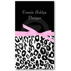 Funky leopard print business card pinkgreen business cards and black and white leopard print business card colourmoves
