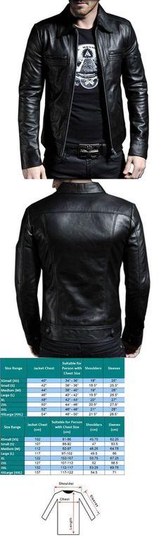 Men Coats And Jackets: Men S Genuine Lambskin Leather Motorcycle Jacket Slim Fit Biker Jacket -> BUY IT NOW ONLY: $104.99 on eBay!