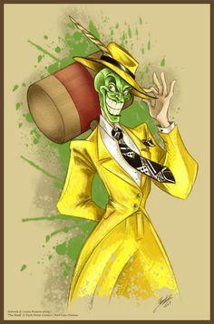 The Mask - Jim Carrey did a good job portraying him, right? Thanks, Mahtab Uddin Cartoon Kunst, Comic Kunst, Cartoon Drawings, Cartoon Art, Comic Art, Art Drawings, Cartoon Character Tattoos, Classic Cartoon Characters, Classic Cartoons
