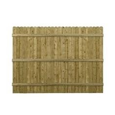 Pine Dog-ear Pressure Treated Wood Fence Panel (common: 6-ft X 8-ft; Actual…